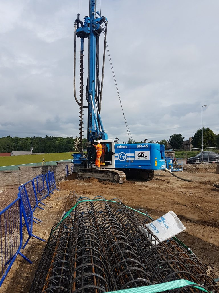 CFA piling for new student accommodation