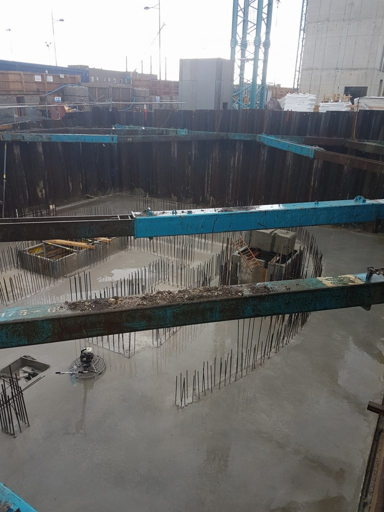 Basement raft poured at Exo Dublin